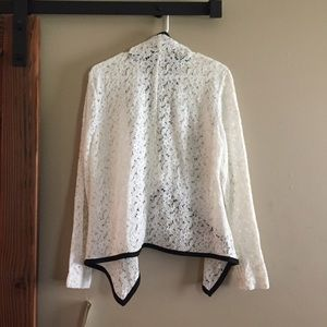 NY Collection Jackets & Coats - NY Collection Lace Blazer With Black Trim size XL